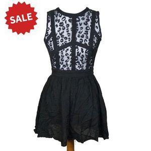 3for$20 Nameless black lace fit & flare mini dress